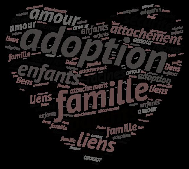 Nuage de mots décrivant l'adoption